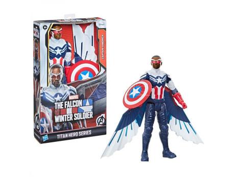 Marvel Falcon E The Winter Soldier Captain America Titan Figura 30cm Hasbro