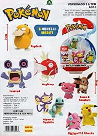 Giochi Preziosi Pokemon - Personaggi 5&7 Cm Ass. 3 Merchandising Ufficiale