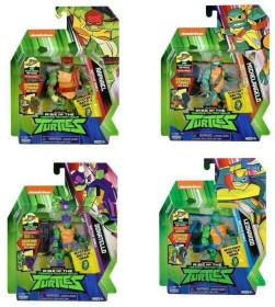 Turtles Rise off Pers. Base Ass.2 Personaggi E Playset Maschili